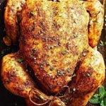 Курица с соусом из грецких орехов и зелени в аэрогриле.