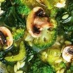 Овощной суп с грибами.