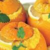 Ванильный пудинг в апельсинах.