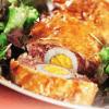 Мясной рулет с яйцом.