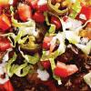 Мексиканская пицца с острым фаршем.