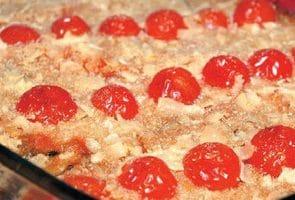 Запеканка из вермишели с помидорами