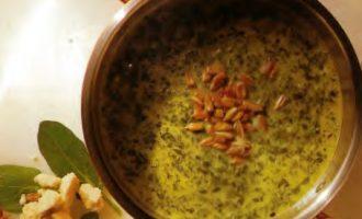 Соус из шпината и сыра