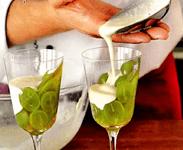 Виноград с йогуртом
