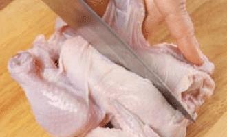 Цыплята с овощами
