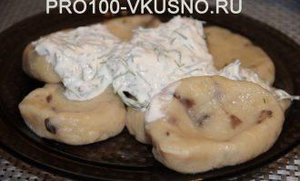 Ленивые картофельно-грибные вареники