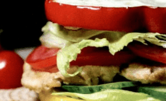 Диетический бургер с яичным белком.