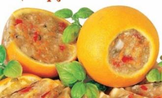 Заливное из курицы в апельсине.