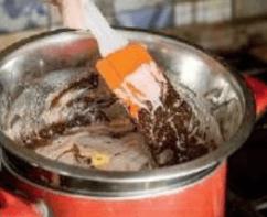 Шоколадный лава-кейк