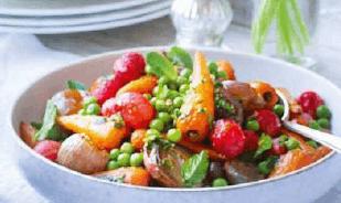 Запечённый весенние овощи.