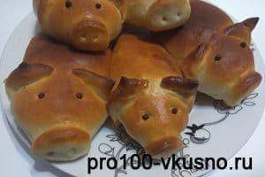 Пирожки с картошкой и луком-поросята