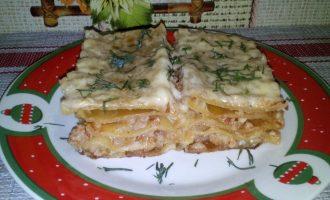 Лазанья со сливочным соусом