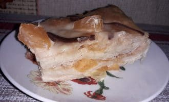 Торт с мандаринами и кремом