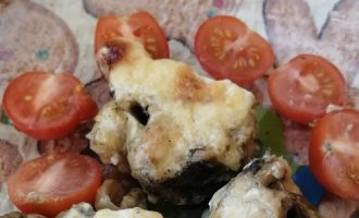 Треска в горчичном соусе под сырной шапкой