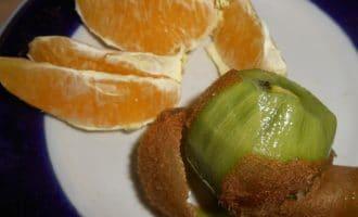 Шашлык, маринованный в мякоти киви и апельсинов