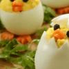 Закуска цыплёнок из яйца