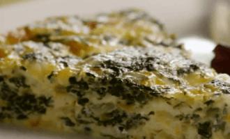 Пирог из шпината