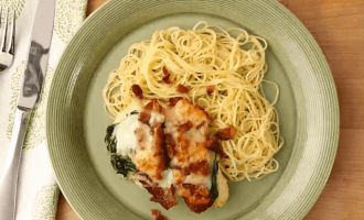 Куриная грудка со шпинатом