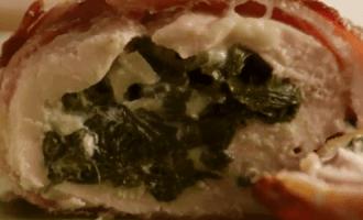 Фаршированная шпинатом куриная грудка