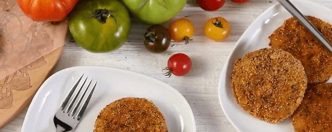 Как пожарить зеленые помидоры